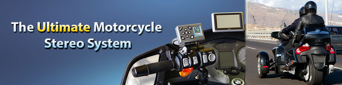 MC-200 motorcycle audio system page header photo