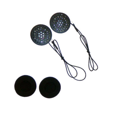 Photo of the MotoChello helmet headset speakers
